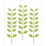 Estêncil para Pintura Simples 20x25 Estampa Folhas - Opa1770 - Opa