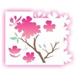 Estêncil para Pintura Simples 20x25 Flor Cerejeira Opa1705 - Opa