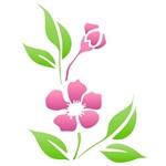 Estêncil para Pintura Simples 20x25 Flor Peonia Chinesa - Opa1021- Opa