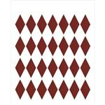Estêncil para Pintura Simples 20x25 Losango Grande - Opa1781 - Opa