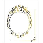 Estêncil para Pintura Simples 20x25 Moldura Oval - Opa1783 - Opa