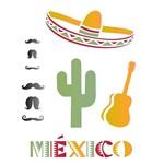 Estêncil para Pintura Simples 20x25 País México - Opa1331 - Opa