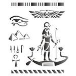 Estêncil para Pintura Simples 20x25 Paises Egito Opa1332 - Opa