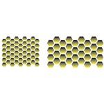 Estêncil para Pintura Simples 10x30 Favos de Mel OPA1477 - Opa