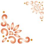 Estêncil para Pintura Simples 10x10 Cantoneira Estilizada - Opa462 - Opa