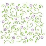 Estêncil para Pintura Simples 14x14 Estamparia Flor e Folha - OPA1054 - Opa