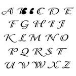 Estêncil para Pintura Simples 15x20 Alfabeto Classico Opa299 - Opa