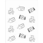 Estêncil para Pintura Simples 15x20 Cameras de Foto OPA1211 - Opa
