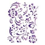 Estêncil para Pintura Simples 15x20 Estamparia Floral - Opa382 - Opa