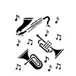 Estêncil para Pintura Simples 15x20 Instrumentos Musicais OPA426 - Opa