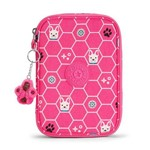 Estojo 100 Pens Pink Dog Tile Kipling