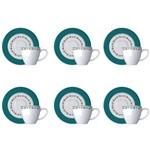 Estojo com 6 Xícaras para Café Yukatán 7215013 Germer