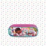 Estojo Doutora Brinquedos 2 Divisórias Infantil Original Dermiwil