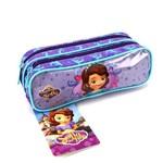 Estojo Escolar Princesinha Sofia Disney Junior Duplo Ref 49079 Dmw