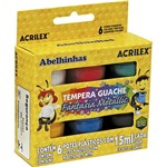 Estojo Guache Fantasia Metallic com 6 Cores 15ml