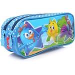 Estojo Infantil Xeryus Dois Compartimentos 3d Azul Galinha Pintadinha
