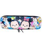 Estojo Metal Branco Mickey Minnie Tsum Tsum 6x3.5x19cm - Disney