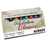 Estojo Tinta Óleo Classic Colors Acrilex com 8 Bisnagas 20ml