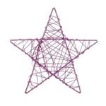 Estrela Decoração Natal 30cm Lilás