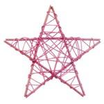 Estrela Decoração Natal 20cm Rosa