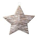 Estrela Rústica Decoração Natal Branco