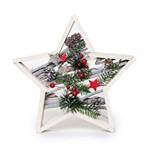 Estrela Rústica Decoração Natal Natural 30cm