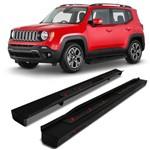Estribo Lateral Jeep Renegade 2015 a 2019 Steel Carbon Preto Modelo Original