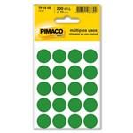 Etiqueta Adesiva Pimaco Identificacao - Tp 019 Mm 200 Un Verde TP19 VERDE