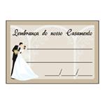 Etiqueta Lembrança Casamento