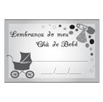 Etiqueta Lembrança Chá de Bebê Carrinho Preto