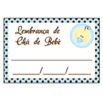 Etiqueta Lembrança Chá de Bebê Menino