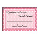 Etiqueta Lembrança Chá de Bebê Rosa Poá