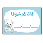 Etiqueta Lembrança Ursinho Azul