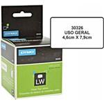 Etiqueta P/ Impressora Térmica Labelwriter 46mmx79mm 1 Rolo C/150 Un. 30326 Dymo