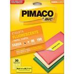 Etiqueta Pimaco 5580a Fluorescente Amarelo com 150 25,4x66