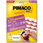 Etiqueta Pimaco Glossy 7072 - 10 Folhas - 46,6 X 63,5 Mm