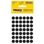 Etiqueta Pimaco Tp-12 Cor Pl 5 Fls Preta