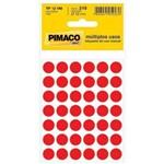 Etiqueta Pimaco Tp-12 Cor Pl 5 Fls Vermelha