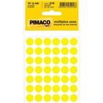 Etiqueta Pimaco Tp 12am Amarelo Redonda C/210
