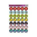 Etiquetas Adesivas La Vem a Noiva Cartela com 35 Unidades