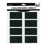 Etiquetas Chalkboard Retângulos com 8 Unidades