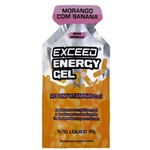 Exceed Energy Gel Caixa com 10 Uni- Strawberry e Banana