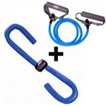 Exercitador Tonificador para Coxas + Extensor Elastico Tensao Forte Liveup