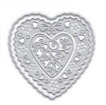 Faca de Corte e Relevo Elegance Toke e Crie FPCR014 7,03x7,02cm Coração com Flores