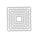 Faca de Corte em Metal 6 Peças Quadrado Escalopado Modelo 4
