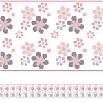 Faixa de Parede Floral para Quarto de Menina 5mx10cm