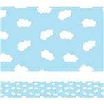 Faixa de Parede Nuvens em Azul para Quarto Infantil 3mx15cm