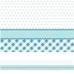 Faixa de Parede para Quarto de Bebê Xadrez Poá Azul 3mx15cm