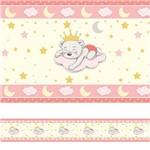 Faixa de Parede Ursinha Princesa Quarto de Bebê 10mx10cm