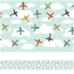 Faixa Decorativa Adesiva Aviões Coloridos 3mx15cm